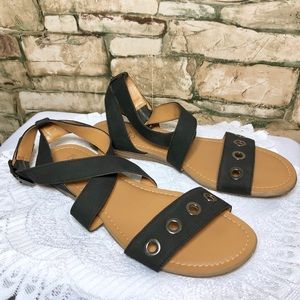 NWOT Franco Sarto Gladiator Sandal Womens 9M Black